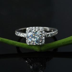 Matching ring-Platinum H&A 1 CT Dia..