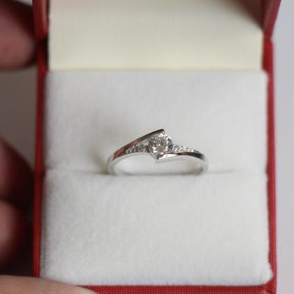 0.6 Carat Promise Ring, Purity Ring..