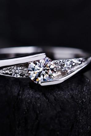 0.6 Carat Promise Ring, Purity Ring, Anniversary Ring, Low Profile Ring