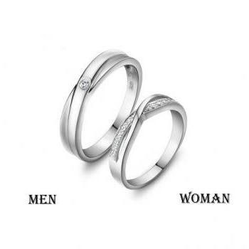 2 Rings-Free Engraving infinity Ring, Wedding Band Couple Rings, Lover rings, his and hers promise ring sets , wedding rings, matching rings